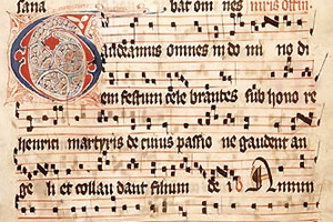 Manuscript of Gregorian Chant