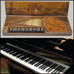 Clavichord and modern piano