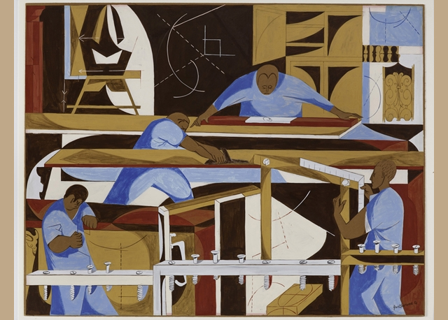 Jacob Lawrence's 'Construction' from 1952