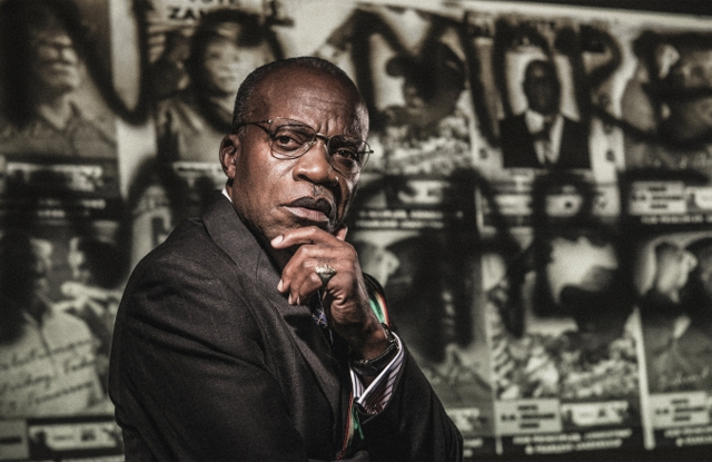 L. Peter Callender as Robert Mugabe in 'Breakfast With Mugabe' at Aurora Theatre
