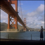 Kim Novak and the Bridge in Vertigo